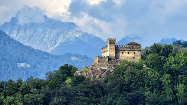 Three Castles of Bellinzona UNESCO World Heritage site in Switzerland